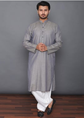 Mosaic Cotton Formal Kurtas for Men -  3303 Grey