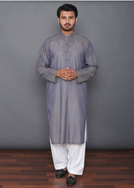 Mosaic Cotton Formal Kurtas for Men -  3305 Dark Grey