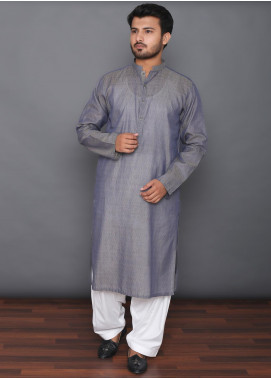 Mosaic Cotton Formal Men Kurtas -  3308 Light Grey