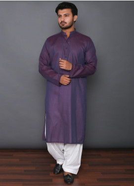 Mosaic Cotton Formal Men Kurtas -  3304 Purple