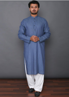 Mosaic Cotton Formal Kurtas for Men -  3310 Dark BLue