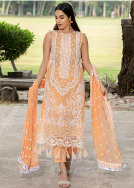 Motifz Embroidered Lawn Unstitched 3 Piece Suit MT20-PF2 2584 Brandy Punch - Festive Collection