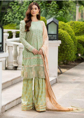 Motifz Embroidered Lawn Unstitched 3 Piece Suit MT20-PF2 2586 Green Mist - Festive Collection