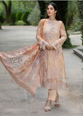 Motifz Embroidered Lawn Unstitched 3 Piece Suit MT20-PF2 2590 Salmon - Festive Collection