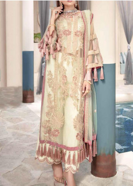 Motifz Embroidered Net Unstitched 3 Piece Suit MT20W MWU02329 - Wedding Collection