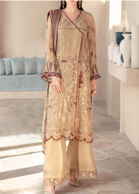 Motifz Embroidered Chiffon Unstitched 3 Piece Suit MT20W MWU02575 - Wedding Collection