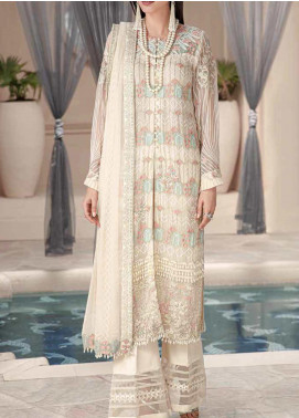 Motifz Embroidered Chiffon Unstitched 3 Piece Suit MT20W MWU02576 - Wedding Collection