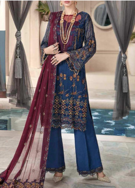 Motifz Embroidered Chiffon Unstitched 3 Piece Suit MT20W MWU02577 - Wedding Collection
