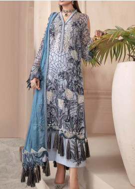 Motifz Embroidered Chiffon Unstitched 3 Piece Suit MT20W MWU02580 - Wedding Collection