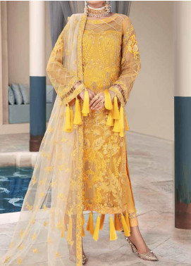 Motifz Embroidered Net Unstitched 3 Piece Suit MT20W MWU02582 - Wedding Collection