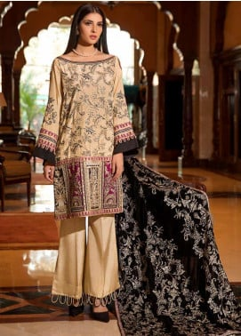 Motifz Embroidered Silk Unstitched 3 Piece Suit MT19PE 2367 Royal Majesty - Premium Collection