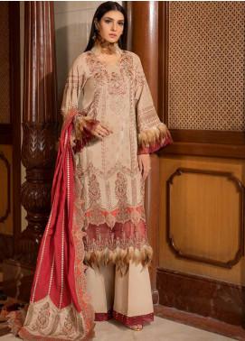 Motifz Embroidered Silk Karandi Unstitched 3 Piece Suit MT19PE 2374 Ethnic Edtore - Premium Collection