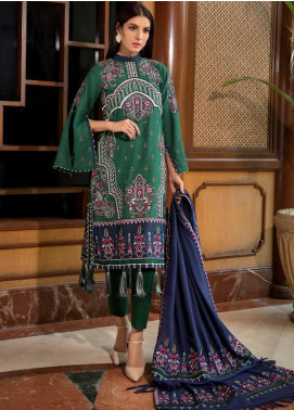 Motifz Embroidered Khaddar Unstitched 3 Piece Suit MT19PE 2376 Verdant Paisley - Premium Collection