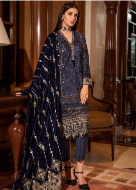 Motifz Embroidered Silk Unstitched 3 Piece Suit MT19PE 2377 Onyx Duske - Premium Collection