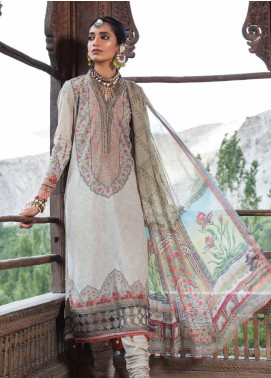 Maria B MPrints Embroidered Lawn Unstitched 3 Piece Suit MBP19K 5A - Festive Collection