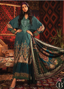 Mprints by Maria B Embroidered Linen Unstitched 3 Piece Suit MB20FW 13A - Winter Collection