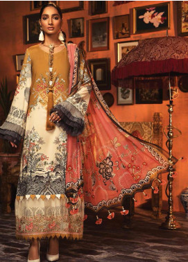 Mprints by Maria B Embroidered Linen Unstitched 3 Piece Suit MB20FW 1A - Winter Collection