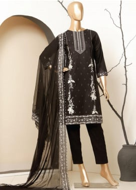 MTF Embroidered Lawn Unstitched 3 Piece Suit MTF20BW 01 - Black & White Collection