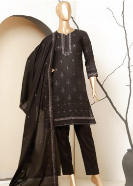 MTF Embroidered Lawn Unstitched 3 Piece Suit MTF20BW 04 - Black & White Collection