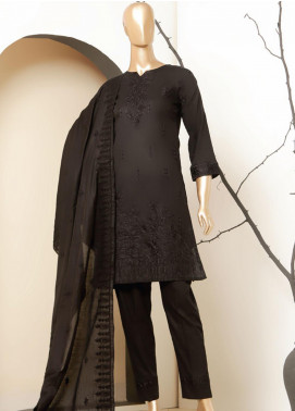 MTF Embroidered Lawn Unstitched 3 Piece Suit MTF20BW 05 - Black & White Collection