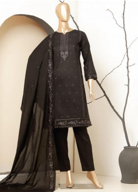 MTF Embroidered Lawn Unstitched 3 Piece Suit MTF20BW 06 - Black & White Collection
