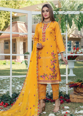 Signature Style by MTF Embroidered Cotton Unstitched 3 Piece Suit MTF20SC 04 - Formal Collection
