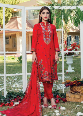 Signature Style by MTF Embroidered Cotton Unstitched 3 Piece Suit MTF20SC 05 - Formal Collection