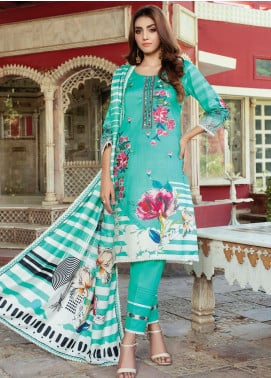 Flawless Beauty by MTF Embroidered Linen Unstitched 3 Piece Suit MTF20FB 01 - Winter Collection