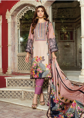 Flawless Beauty by MTF Embroidered Linen Unstitched 3 Piece Suit MTF20FB 02 - Winter Collection