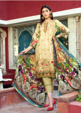 Flawless Beauty by MTF Embroidered Linen Unstitched 3 Piece Suit MTF20FB 05 - Winter Collection