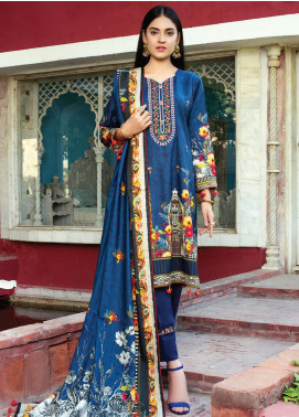Flawless Beauty by MTF Embroidered Linen Unstitched 3 Piece Suit MTF20FB 06 - Winter Collection