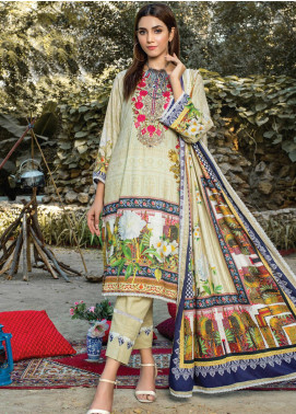 Traces of Winter by MTF Embroidered Linen Unstitched 3 Piece Suit MTF20LN 05 - Winter Collection