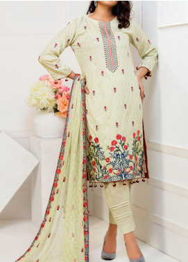 MTF Embroidered Cambric Unstitched 3 Piece Suit MTF20MS 02 - Summer Collection
