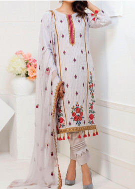 MTF Embroidered Cambric Unstitched 3 Piece Suit MTF20MS 04 - Summer Collection