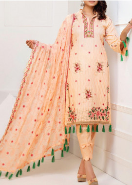 MTF Embroidered Cambric Unstitched 3 Piece Suit MTF20MS 06 - Summer Collection