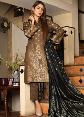 Fusion of Color by MTF Broschia Banarsi Viscose Unstitched 3 Piece Suit MTF20FC 06 - Winter Collection