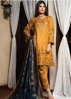 Fusion of Color by MTF Broschia Banarsi Viscose Unstitched 3 Piece Suit MTF20FC 07 - Winter Collection