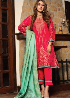 Fusion of Color by MTF Broschia Banarsi Viscose Unstitched 3 Piece Suit MTF20FC 08 - Winter Collection