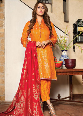 Fusion of Color by MTF Broschia Banarsi Viscose Unstitched 3 Piece Suit MTF20FC 12 - Winter Collection