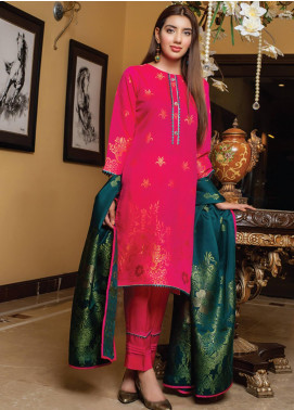 Grace & Elegance by MTF Broschia Banarsi Viscose Silk Unstitched 3 Piece Suit MTF20GE 01 - Winter Collection