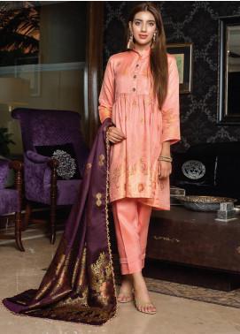 Grace & Elegance by MTF Broschia Banarsi Viscose Silk Unstitched 3 Piece Suit MTF20GE 02 - Winter Collection