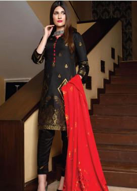 Grace & Elegance by MTF Broschia Banarsi Viscose Silk Unstitched 3 Piece Suit MTF20GE 04 - Winter Collection