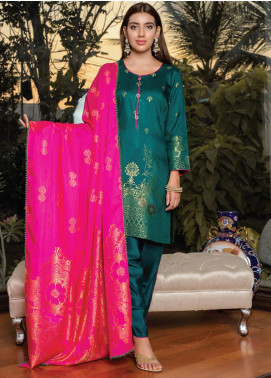 Grace & Elegance by MTF Broschia Banarsi Viscose Silk Unstitched 3 Piece Suit MTF20GE 06 - Winter Collection