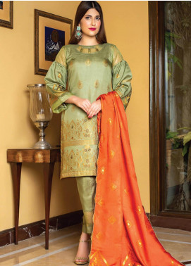 Grace & Elegance by MTF Broschia Banarsi Viscose Silk Unstitched 3 Piece Suit MTF20GE 07 - Winter Collection