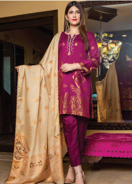 Grace & Elegance by MTF Broschia Banarsi Viscose Silk Unstitched 3 Piece Suit MTF20GE 08 - Winter Collection