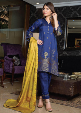Grace & Elegance by MTF Broschia Banarsi Viscose Silk Unstitched 3 Piece Suit MTF20GE 09 - Winter Collection