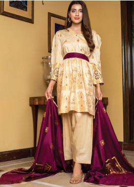 Grace & Elegance by MTF Broschia Banarsi Viscose Silk Unstitched 3 Piece Suit MTF20GE 10 - Winter Collection