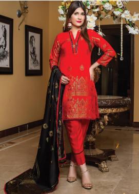 Grace & Elegance by MTF Broschia Banarsi Viscose Silk Unstitched 3 Piece Suit MTF20GE 11 - Winter Collection