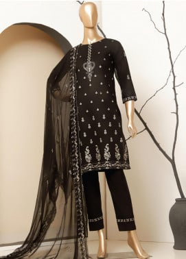 MTF Embroidered Lawn Unstitched 3 Piece Suit MTF20BW 02 - Black & White Collection