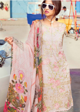 MusCari Embroidered Lawn Unstitched 3 Piece Suit MUS18L 103 - Spring / Summer Collection